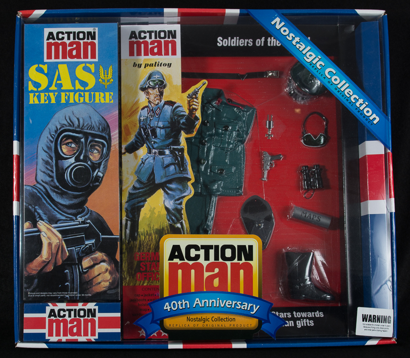 Action Man - Boxed 40th Collection SAS Key Figure & German Staff Officer Set