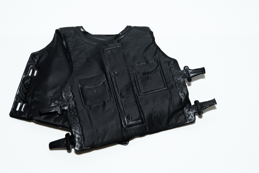 Action Man Black SAS Vest