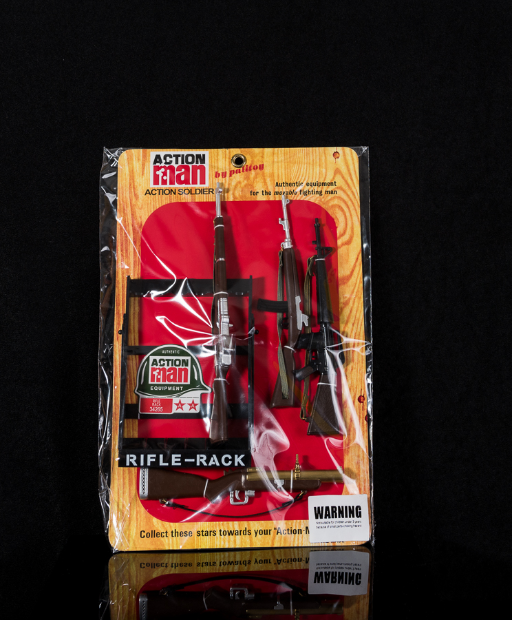 Action Man Rifle Rack & Weapons Pack