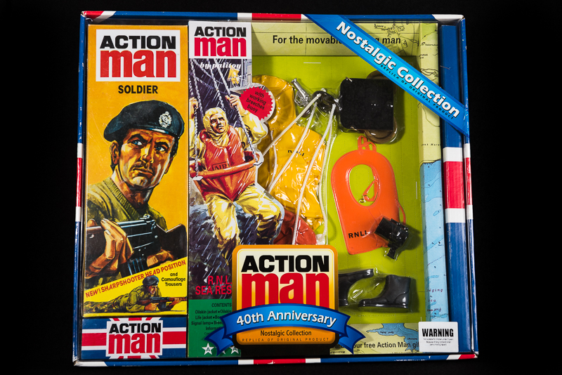 Action Man - Boxed 40th Collection - Soldier Figure &  RNLI Sea Rescue Set