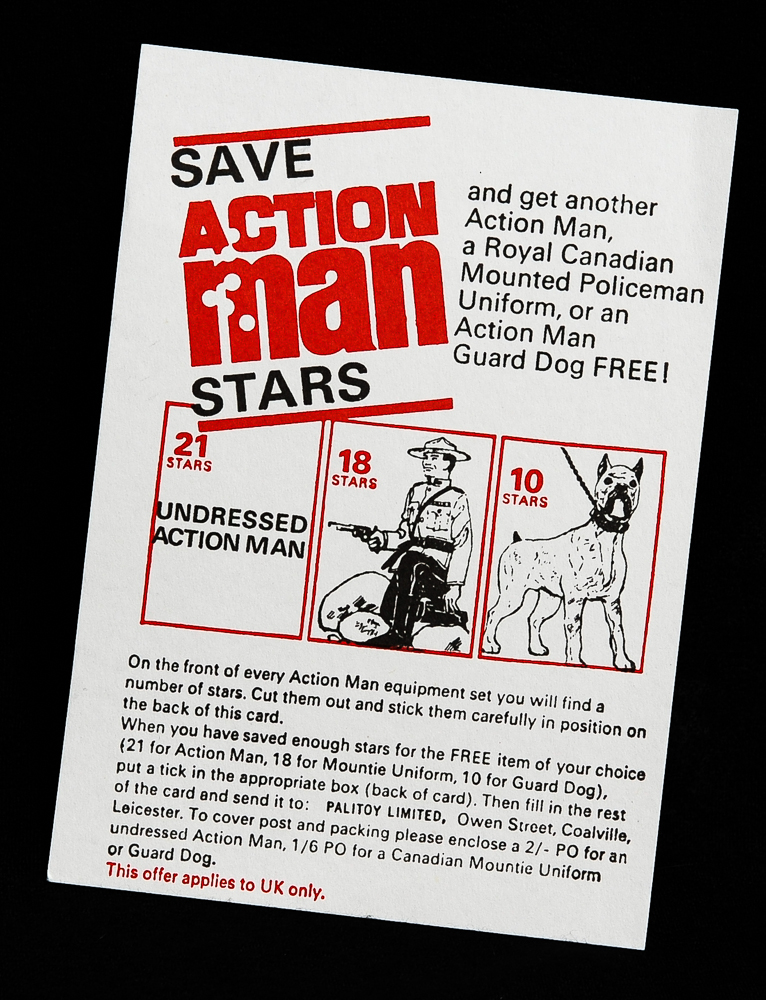 Action Man Stars Card Offer