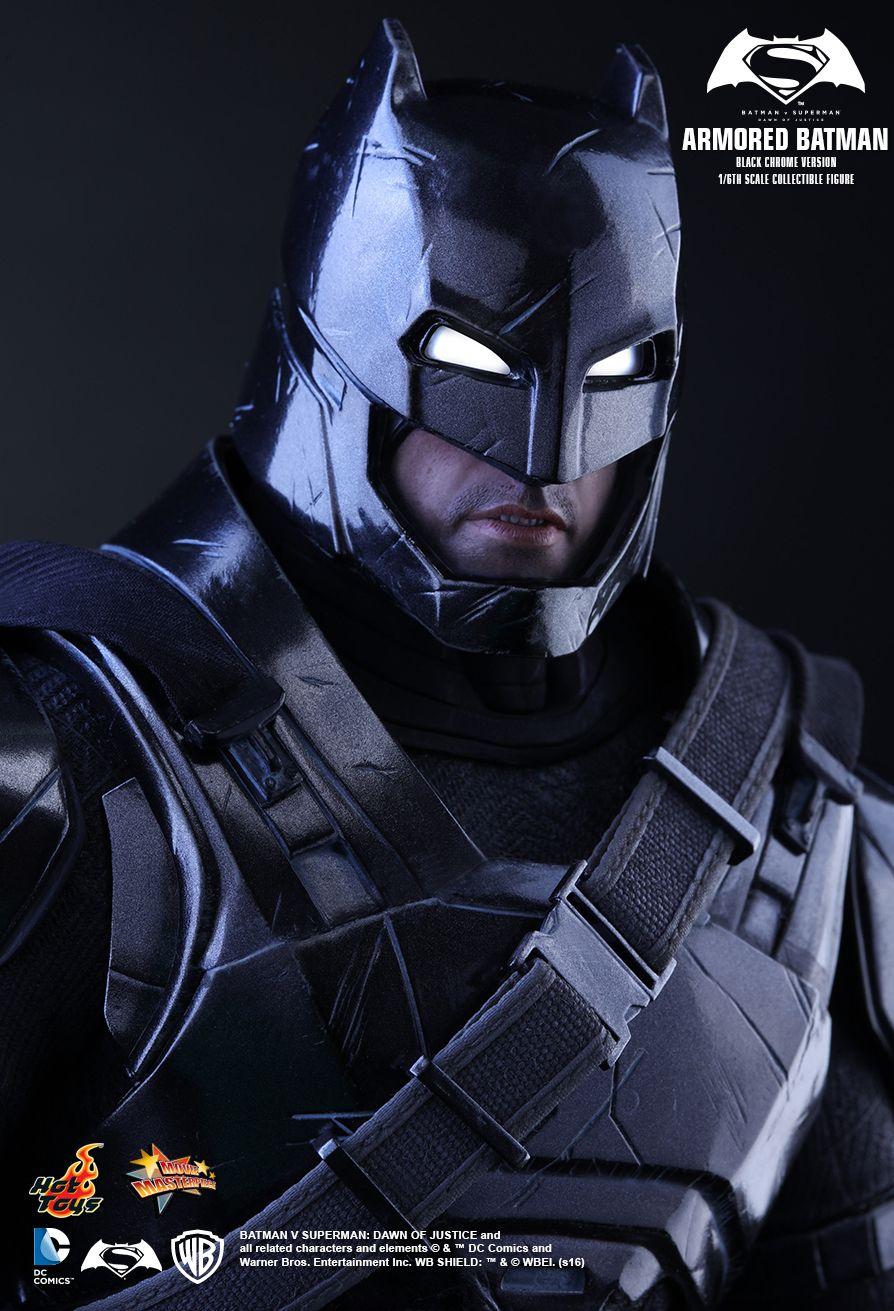 Armored Batman (Black Chrome Version) Batman Sixth Scale Figure by Hot Toys