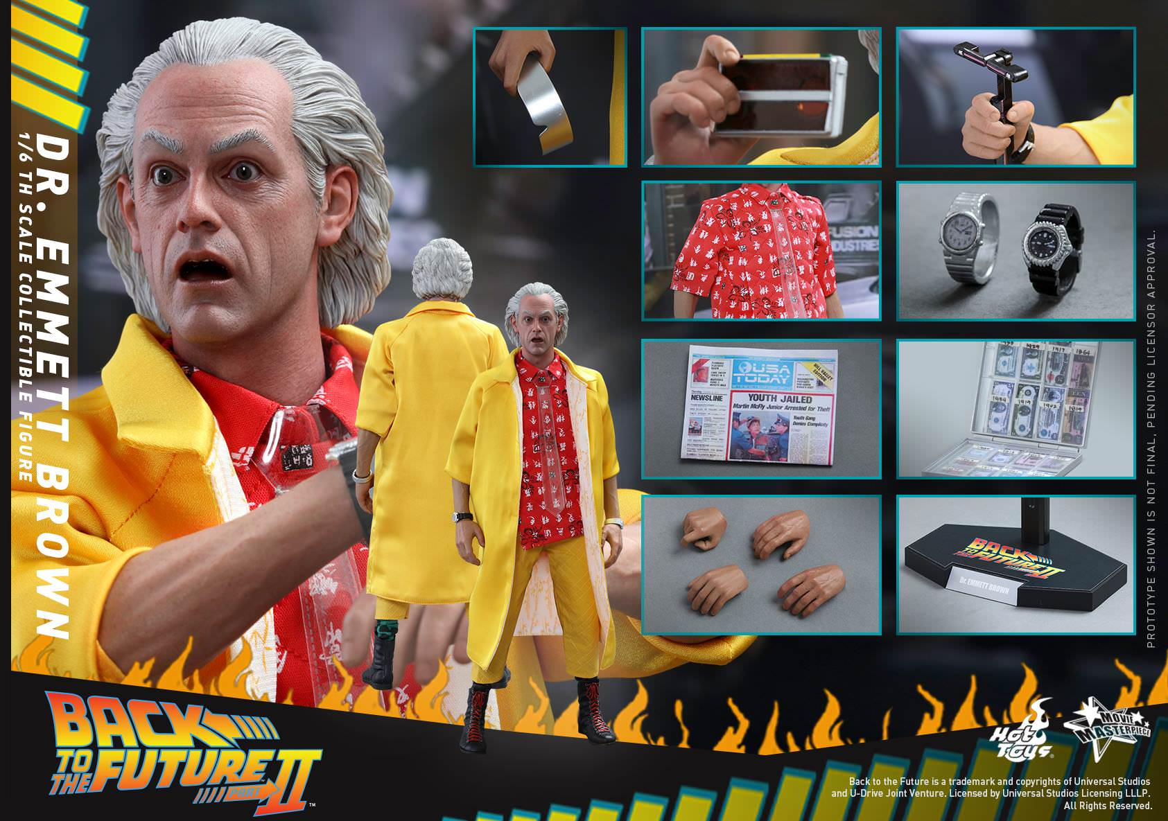 Doc - Dr. Emmett Brown   Sixth Scale Figure by Hot Toys Movie Masterpiece Series