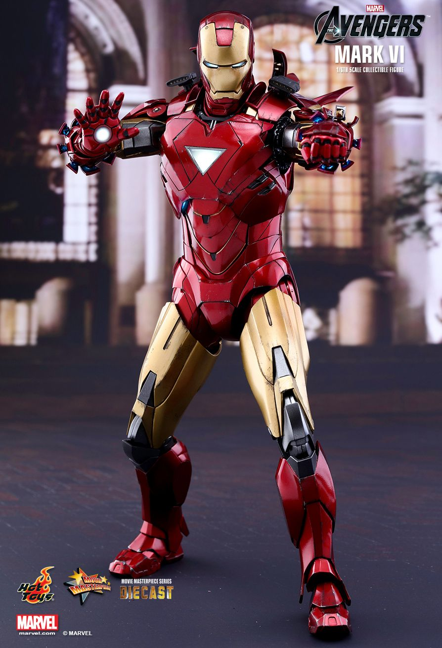 Iron Man Mark VI  Sixth Scale Figure by Hot Toys Movie Masterpiece Series