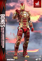 Iron Man Mark XLI - Bones   (Retro Armor Exclusive Version)  Sixth Scale Figure by Hot Toys Movie Masterpiece Series