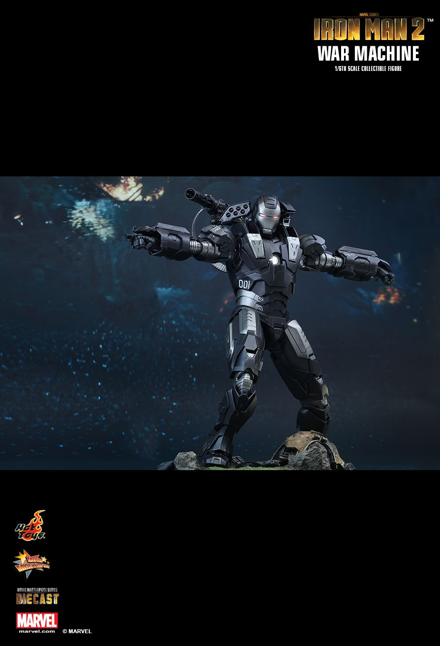 War Machine Sixth Scale Figure by Hot Toys DIECAST Movie Masterpiece Series