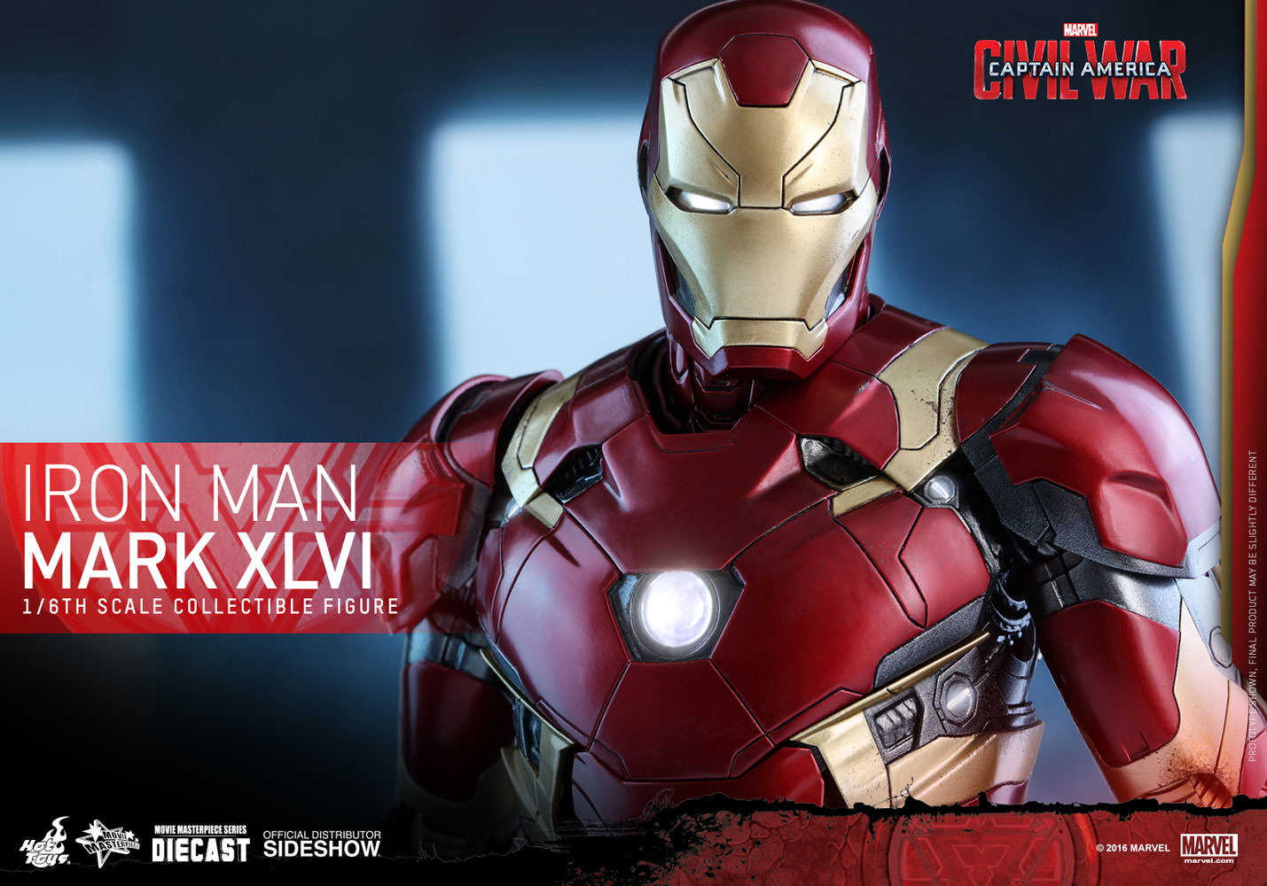 Iron Man Mark XLVI MK46 Sixth Scale Figure by Hot Toys