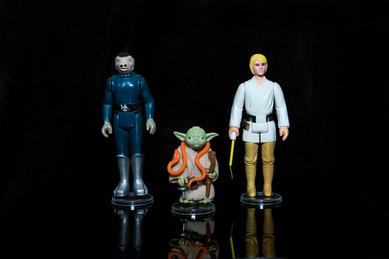Small Clear Figure Stands for Vintage Action Figures