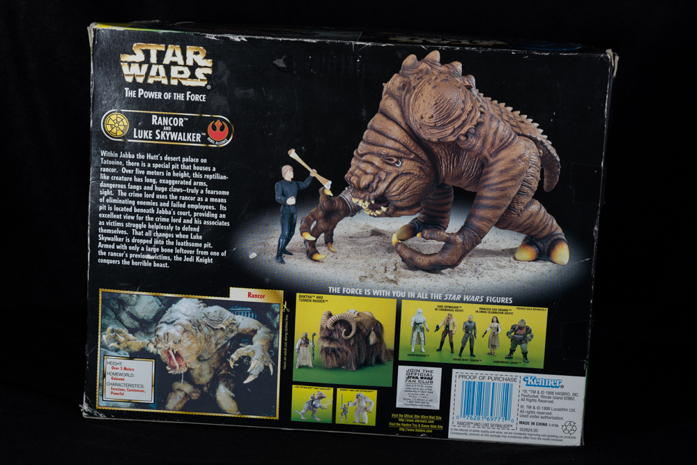 Boxed Rancor Keeper & Luke Skywalker