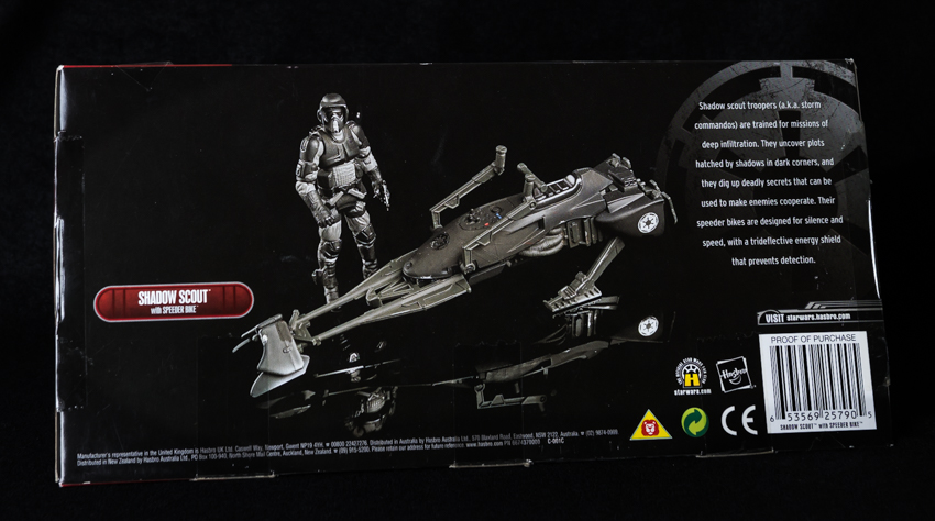 Star Wars Saga 2007 Exclusive Action Figure Shadow Scout Trooper on Speeder Bike