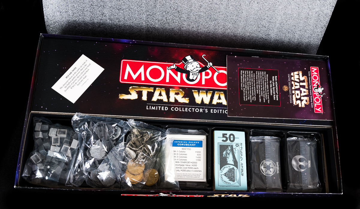 Parker Bros Star Wars Monopoly: Limited 20th Anniversary Numbered Collector's edition