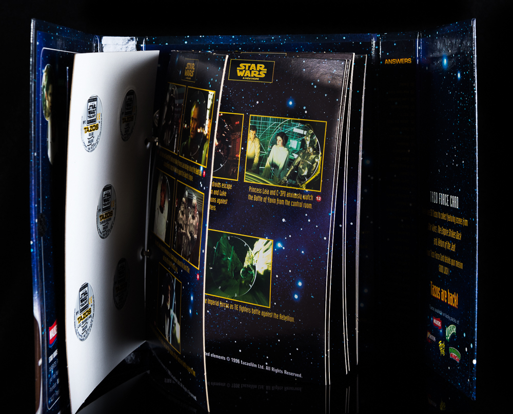 Complete Star Wars Tazo Collectors Force Pack