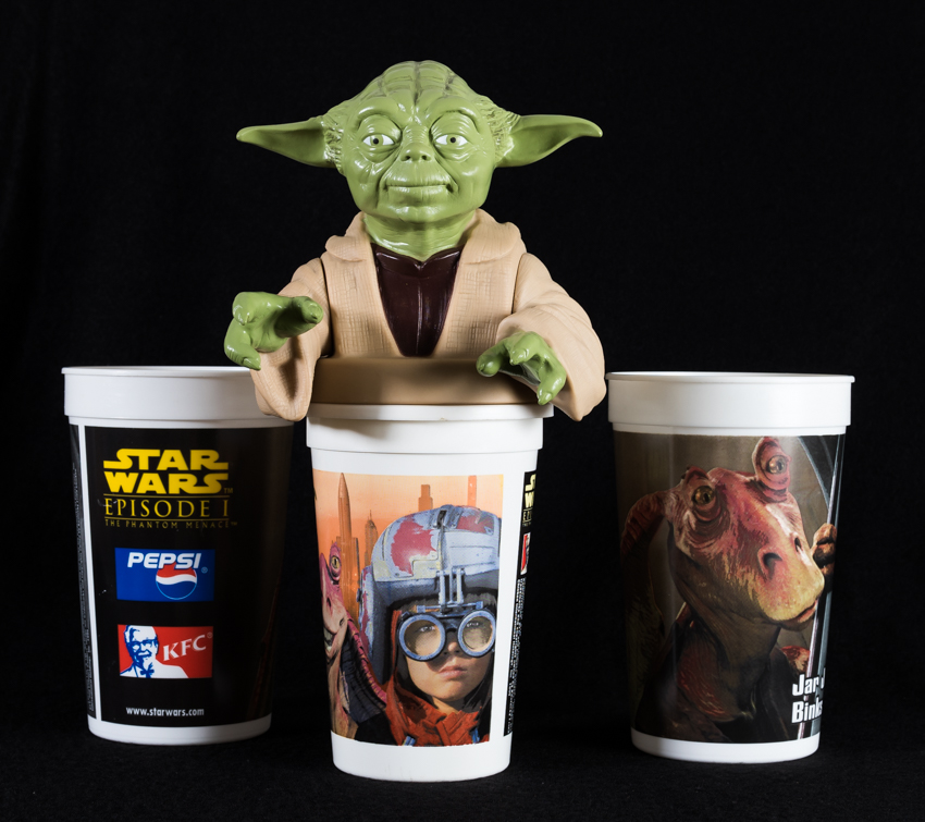 Star Wars Episode 1 Yoda Bust Top & Cups