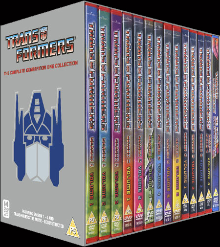 Transformers Generation 1 Complete DVD Box Set